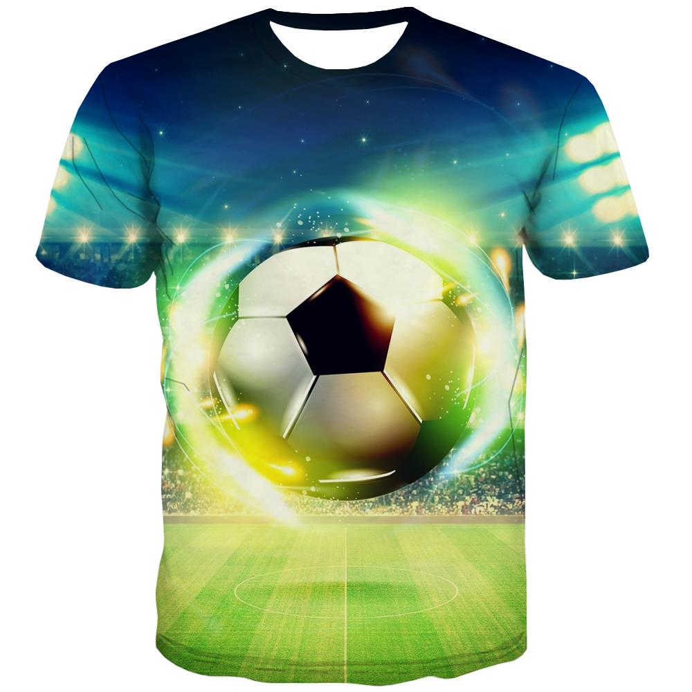 Lawn T shirts Men Football T-shirts 3d Athletics Tshirts Novelty Stadium Tshirt Printed