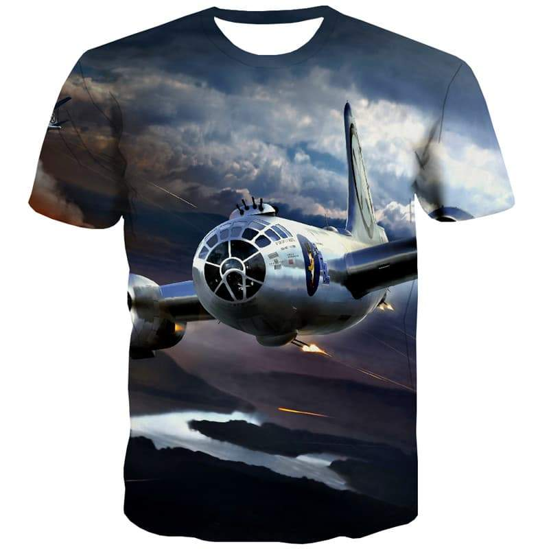 War T-shirt Men Military Tshirts Novelty Flame Tshirt Printed Sky Tshirt Anime Harajuku T-shirts 3d - KYKU