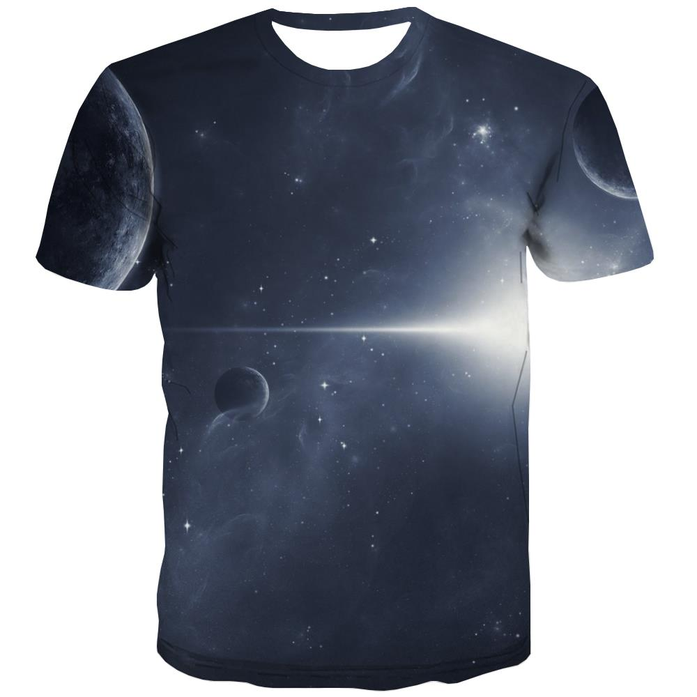 Galaxy T-shirt Men Planet T-shirts 3d Starry Sky T shirts Funny Colorful T-shirts Graphic Harajuku Tshirt Anime