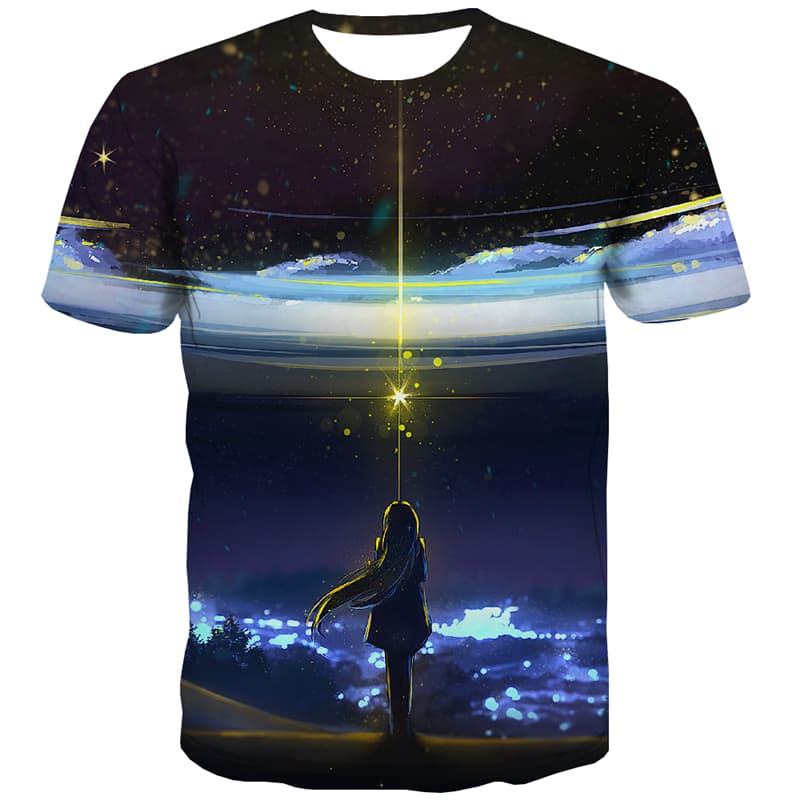 Galaxy T shirts Men Star T shirts Funny Space Shirt Print Harajuku Tshirts Cool