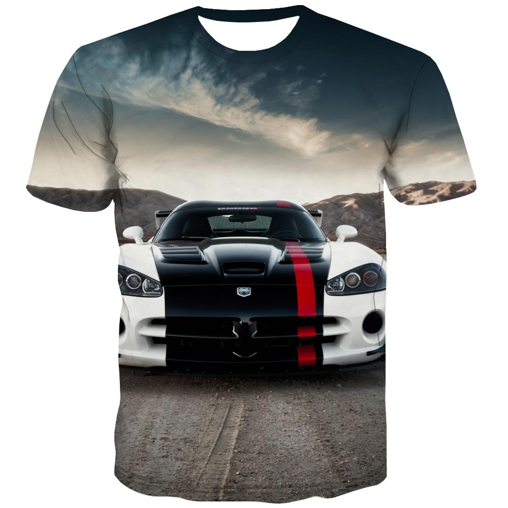 Racing Car T-shirt Men Metal Tshirt Printed City Tshirts Novelty Gray Tshirt Anime Retro Tshirts Cool