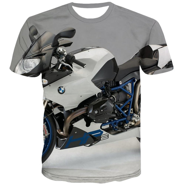 Bicycle T shirts Men Metal T-shirts 3d City T-shirts Graphic Psychedelic Shirt Print