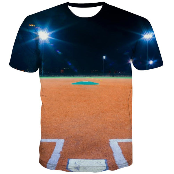 Baseball T shirts Men Stadium T-shirts 3d Game Tshirt Printed White Tshirts Cool