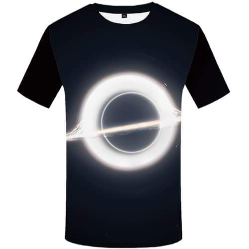 Galaxy T-shirt Men Moon Tshirt Printed Black Hole Tshirt Anime Space T-shirts 3d Black Tshirts Casual Short Sleeve Hip hop Mens - KYKU