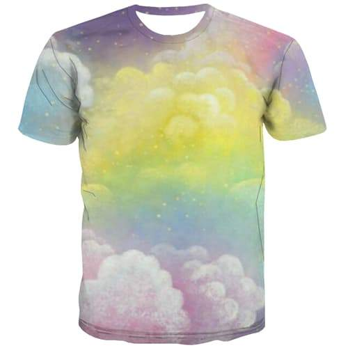 Psychedelic T shirts Men Abstract Tshirts Casual Galaxy T shirts Funny Colorful Shirt Print Hip Hop Tshirt Printed Short Sleeve