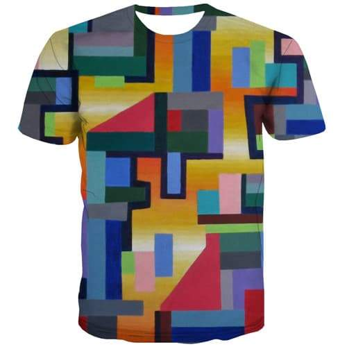 Graffiti T-shirt Men Colorful Tshirts Novelty Vintage Tshirts Casual Art Shirt Print Harajuku Tshirt Printed Short Sleeve - KYKU