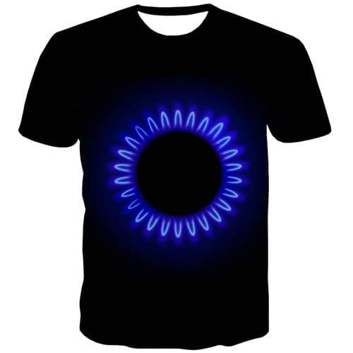 Galaxy Space T shirts Men Black Hole T shirts Funny Psychedelic Tshirts Cool Black Shirt Print Gothic Tshirt Printed - KYKU