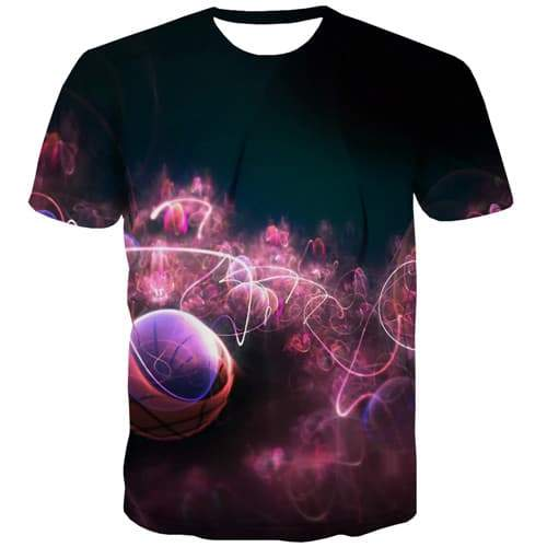 Psychedelic T shirts Men Galaxy Tshirt Printed Nebula Shirt Print Harajuku T-shirts Graphic Colorful Tshirts Cool Short Sleeve - KYKU
