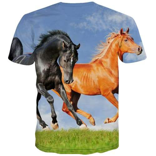 Horse T-shirt Men Animal Tshirt Anime Funny Tshirts Casual Harajuku T-shirts Graphic Street Tshirts Cool Short Sleeve summer
