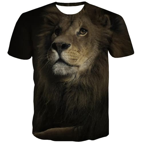 Animal T shirts Men Lion Tshirt Printed Hip Hop Shirt Print Harajuku T-shirts Graphic Street Tshirt Anime Short Sleeve summer