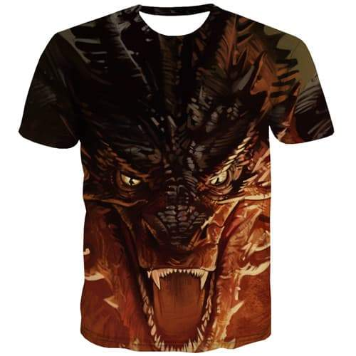 Animal T-shirt Men Anime Tshirts Casual War T-shirts Graphic Terror Tshirt Printed Gothic Tshirt Anime Short Sleeve summer Men - KYKU