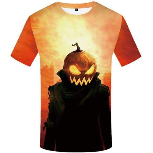 Halloween T-shirt Men Pumpkin Tshirts Casual Cosplay Tshirt Printed Party Tshirts Novelty Skull T-shirts 3d Short Sleeve