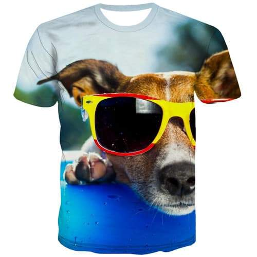 Animal T shirts Men Dog T-shirts 3d Funny T-shirts Graphic Hip Hop Tshirts Cool Short Sleeve summer Men/women S-5XL Style Sport - KYKU