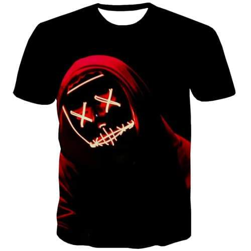 Halloween T-shirt Men Galaxy Shirt Print Black T shirts Funny Harajuku Tshirts Casual Gothic Tshirts Novelty Short Sleeve