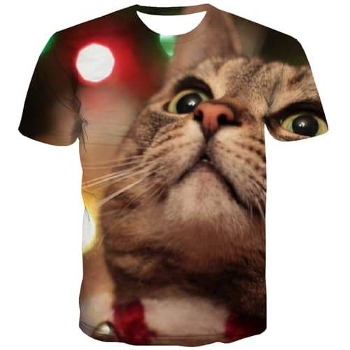 Animal T-shirt Men Cat T-shirts Graphic Street Tshirts Casual Funny Tshirt Anime Lovely T-shirts 3d Short Sleeve summer