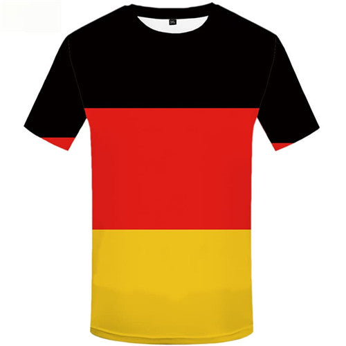 German Flag T shirts Men Colorful T-shirts 3d Punk Shirt Print Harajuku Tshirt Anime Short Sleeve Fashion Men Digital Slim