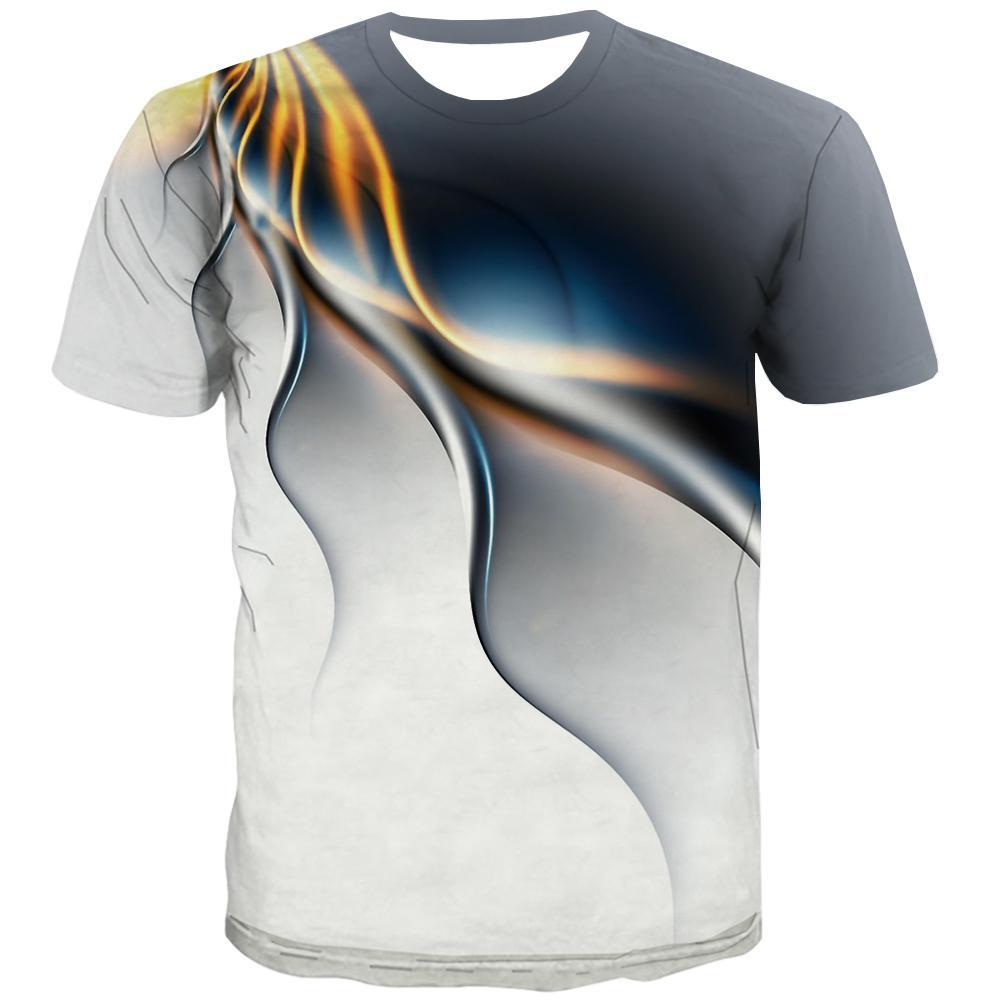 Stripe T-shirt Men Graphic Tshirts Cool Black and White T-shirts Graphic Lines T shirts Funny Casual Tshirt Printed Short Sleeve - KYKU