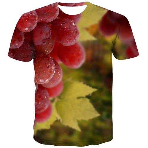 Fruit T shirts Men Grape T-shirts 3d Psychedelic Tshirts Casual Leisure Tshirts Novelty Short Sleeve T shirts Mens New Slim