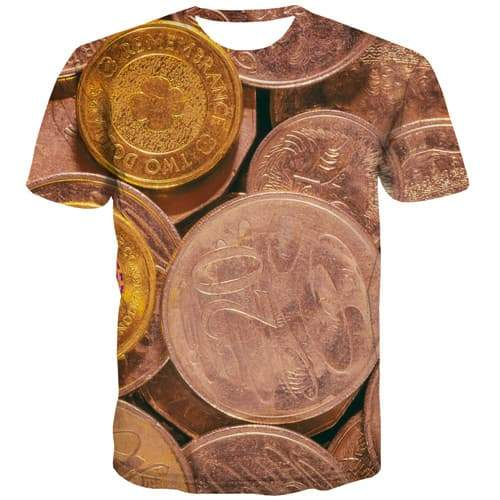 Australian Dollar T-shirt Men Money Tshirts Novelty Metal Shirt Print Australia Tshirt Anime Gothic T-shirts 3d Short Sleeve - KYKU