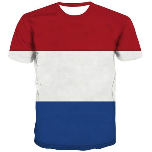 Dutch Flag T-shirt Men Netherlands Tshirts Casual Colorful Tshirts Cool Harajuku T-shirts 3d Gothic T-shirts Graphic - KYKU