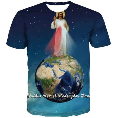 Jesus T shirts Men Earth T shirts Funny Galaxy Tshirts Casual Funny Shirt Print Anime Tshirts Cool Short Sleeve Fashion Unisex