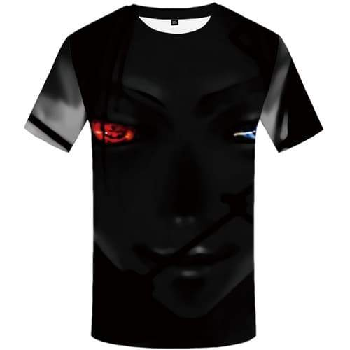 Eye T shirts Men Yinyang Tshirt Anime Black T shirts Funny Gothic T-shirts 3d Beauty T-shirts Graphic Short Sleeve Punk Rock Men - KYKU