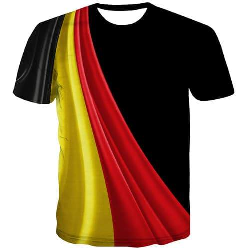 Graffiti T shirts Men Germany T-shirts Graphic German Flag Tshirts Novelty Harajuku Tshirt Printed Art Tshirts Casual - KYKU