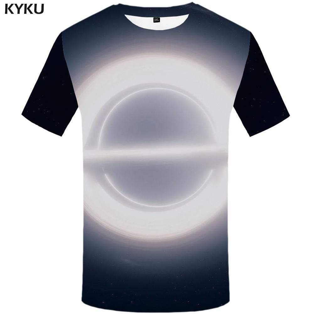 Galaxy T shirt Men Space Tshirts Print Moon T shirts Funny Psychedelic T-shirt 3d Harajuku Tshirt Anime Mens Clothing Hip hop - KYKU