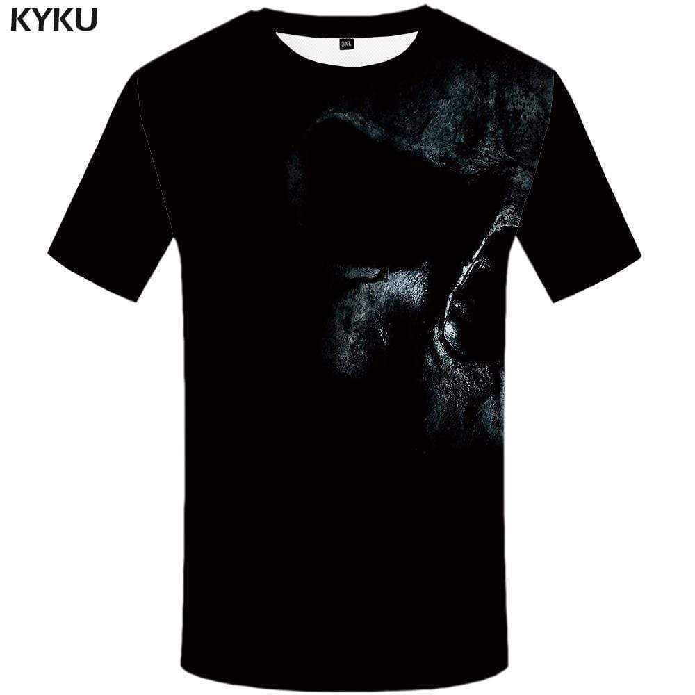 KYKU Brand Skull T shirt Men Snake Tshirt Anime Animal T-shirt 3d Funny T shirts Funny Gothic Tshirts Print Mens Fashion Graphic - KYKU