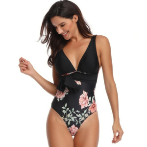 The Flowery Swimsuit Set