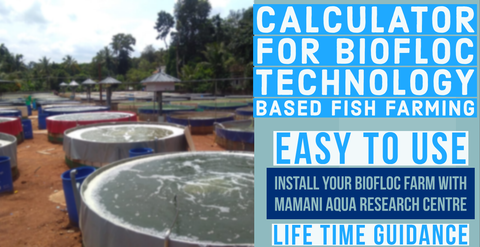 calculator for maintaining water quality in biofloc tanks