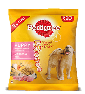 Pedigree Puppy Dry Dog Food, Chicken and Milk: 100 GRAM