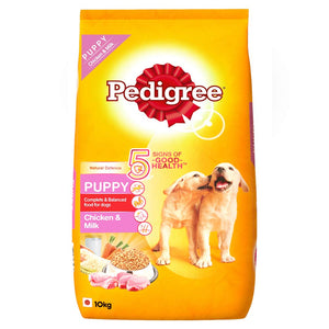 Pedigree Puppy Dry Dog Food, Chicken and Milk: 10 KG