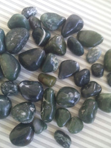 GREEN POLISH PEBBLES, 1 KG