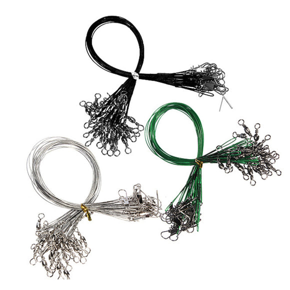 72 pcs Stainless Steel Coated Fishing Trace Lure Wire