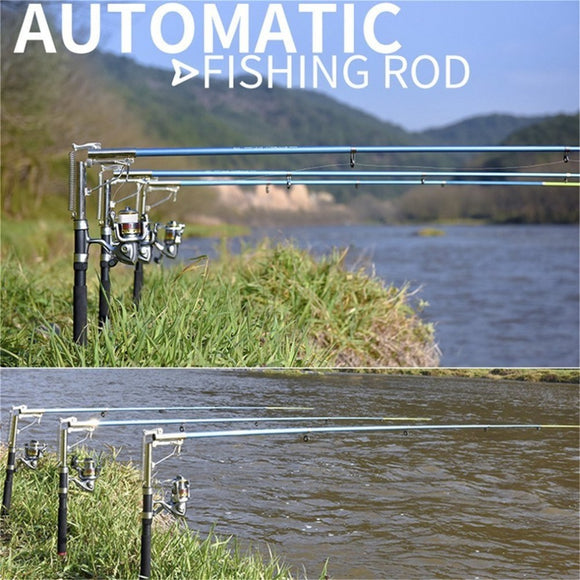 AUTOMATIC TELESCOPIC FISHING ROD