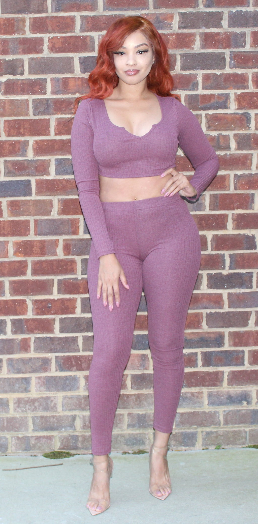 Rib Crop Two Piece