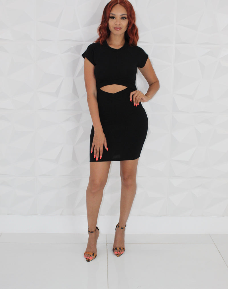 Women's Bare Belly Mini Dress