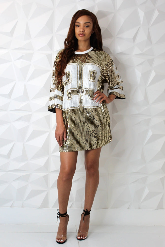 New New Sequin Jersey Dress