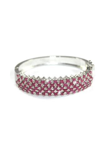 A beautiful bracelet by Amna's Inspiration in Sterling Silver studded with rubies.