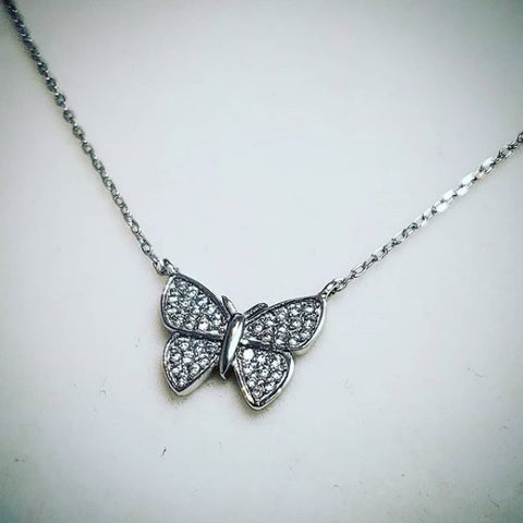 Sterling silver butterfly pendant by Amna's Inspiration