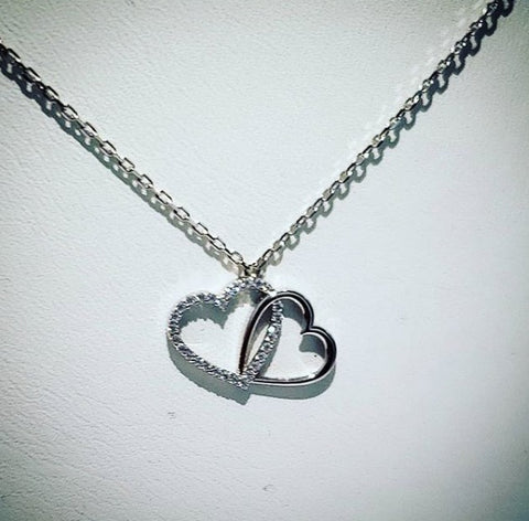 Sterling Silver Heart Necklace by Amna's Inspiration