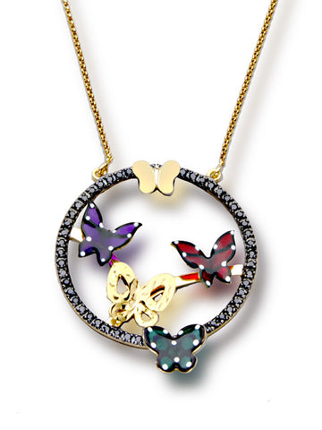 Five Butterflies Pendant