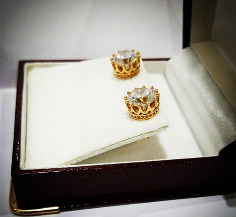 Crown Studs with 3Ct Swarovski