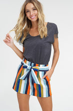 Load image into Gallery viewer, Ramona Multi Stripe Corduroy Shorts