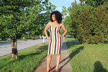 Load image into Gallery viewer, Stripe Me Down Bodycon Dress