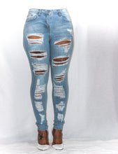 Load image into Gallery viewer, Dorita Distressed High Waist Jeans