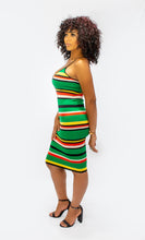 Load image into Gallery viewer, Green Striped Knit Bodycon Dress