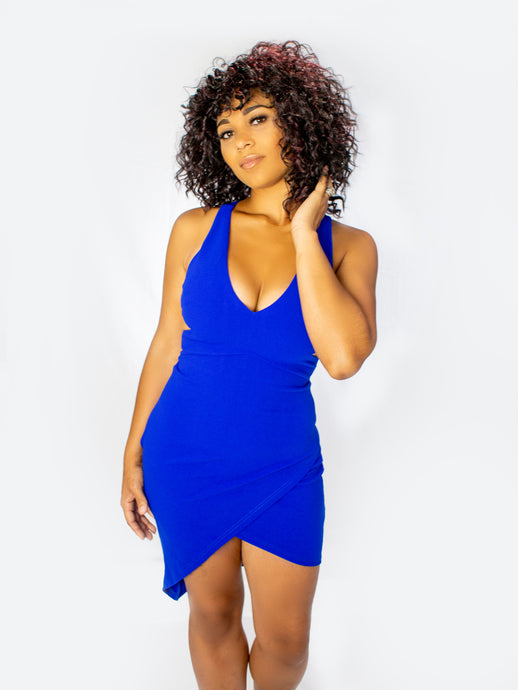 Caught Your Attention Bodycon Dress- Royal Blue