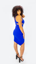 Load image into Gallery viewer, Caught Your Attention Bodycon Dress- Royal Blue